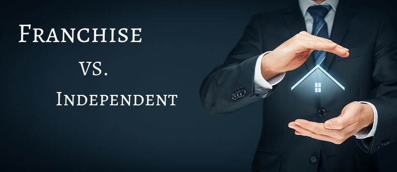 Explore the differences of a real estate franchise vs independent agents and brokers.